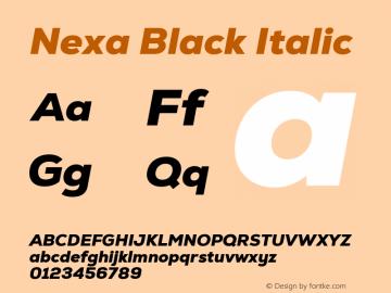Nexa Black Italic Version 2.001图片样张