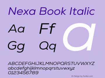 Nexa Book Italic Version 2.001图片样张