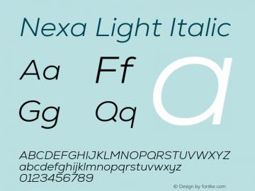 Nexa Light Italic Version 2.001图片样张