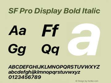 SFProDisplay-BoldItalic Version 15.0d7e11图片样张