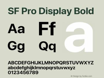 SFProDisplay-Bold Version 15.0d7e11图片样张