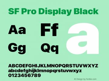 SFProDisplay-Black Version 15.0d7e11图片样张