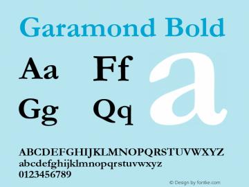 Garamond Font,Garamond Bold Font,Garamond Negreta Font