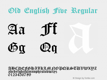 Old English Five Regular 001.056图片样张
