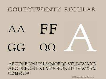 GoudyTwenty Regular 1.23图片样张