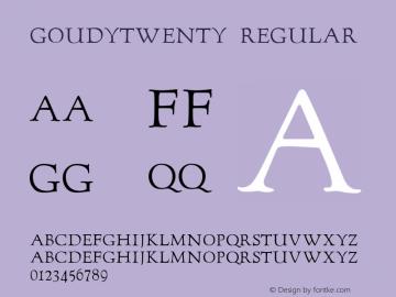 GoudyTwenty Regular 001.023图片样张