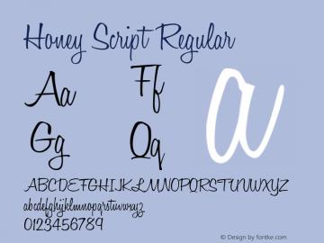 Honey Script Regular 001.007 Font Sample