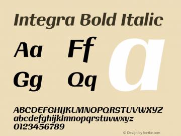 Integra Bold Italic Version 1.000 | w-rip DC20190525图片样张