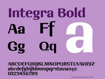 Integra Bold Version 1.000 | w-rip DC20190525图片样张