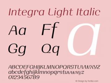 Integra Light Italic Version 1.000 | w-rip DC20190525图片样张