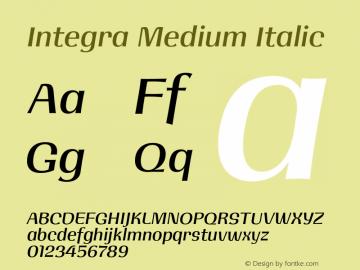 Integra Medium Italic Version 1.000 | w-rip DC20190525图片样张