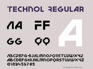 Technol Regular Version 1.010   wf-rip DC20180205图片样张