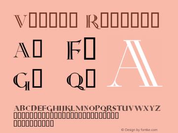 Versal Regular Macromedia Fontographer 4.1.4 8/24/98图片样张