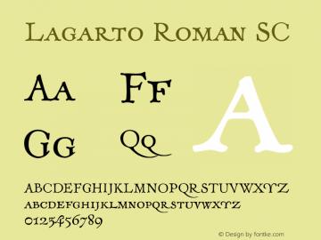 Lagarto-RomanSC Version 1.000;PS 001.000;hotconv 1.0.88;makeotf.lib2.5.64775图片样张