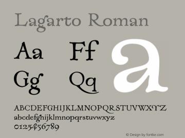 Lagarto-Roman Version 1.000;PS 001.000;hotconv 1.0.88;makeotf.lib2.5.64775图片样张
