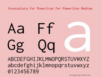 Inconsolata for Powerline for Powerline Version 001.010图片样张