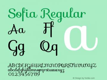 Sofia-Regular Version 1.001图片样张