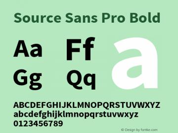 Source Sans Pro Bold Version 1.038;PS 1.000;hotconv 1.0.70;makeotf.lib2.5.5900图片样张