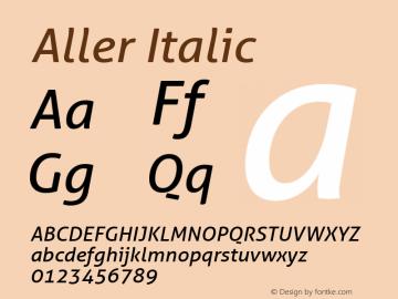 Aller Italic Version 1.00图片样张