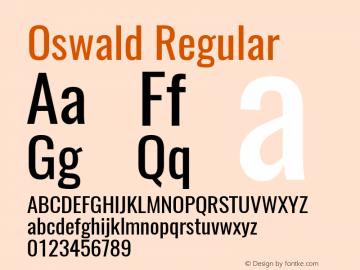 Oswald Regular Version 4.003图片样张
