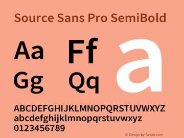 Source Sans Pro SemiBold Version 2.021;PS 2.000;hotconv 1.0.86;makeotf.lib2.5.63406; ttfautohint (v1.8.1)图片样张