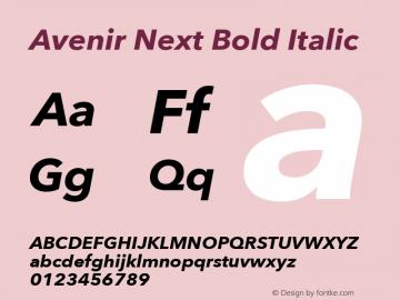 Avenir Next Bold Italic 8.0d5e6图片样张