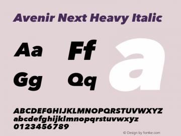 Avenir Next Heavy Italic 8.0d5e6图片样张