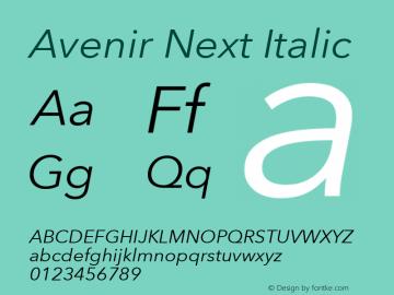 Avenir Next Italic 8.0d5e6图片样张