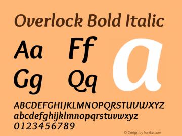 Overlock Bold Italic Version 1.001 Font Sample