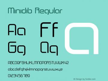 Minidib Regular 001.000 Font Sample