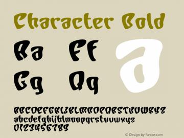 Character Bold Version Macromedia Fontograp Font Sample