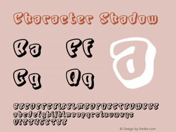 Character Shadow Version Macromedia Fontograp图片样张