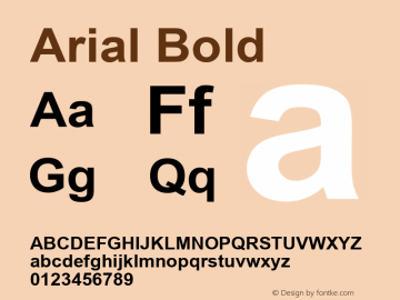 Arial Bold MS core font :V1.00图片样张