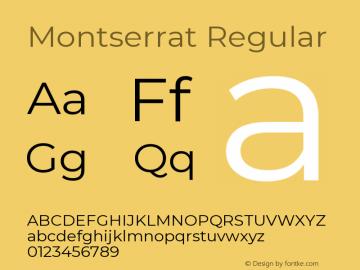 Montserrat Regular Version 7.200;PS 007.200;hotconv 1.0.88;makeotf.lib2.5.64775图片样张