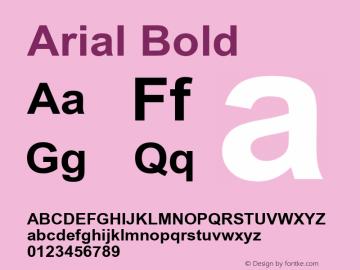 Arial Bold Version 5.08图片样张