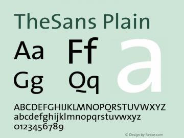 TheSans Plain Macromedia Fontographer 4.1 12/26/97图片样张