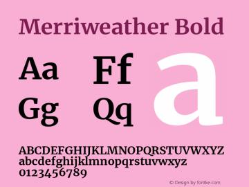 Merriweather Bold Version 2.002 Font Sample