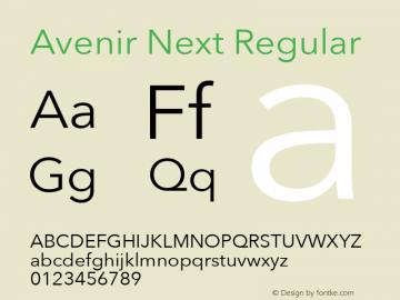 Avenir Next Regular 8.0d5e5图片样张