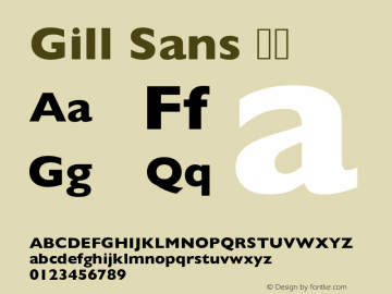 Gill Sans 粗体 图片样张