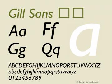 Gill Sans 斜体 图片样张