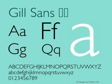 Gill Sans 细体 图片样张