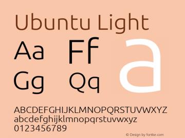 Ubuntu Light Regular Version 0.80 Font Sample