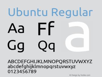Ubuntu Regular Version 0.80 Font Sample