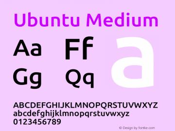 Ubuntu Medium Version 0.80 Font Sample