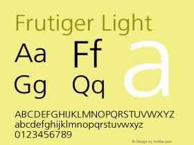 FrutigerCE-Light 001.000图片样张
