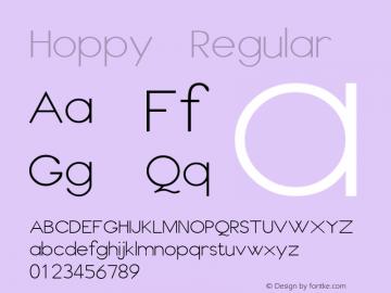 Hoppy Regular Unknown图片样张