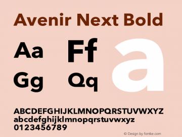 Avenir Next Bold 8.0d2e1图片样张