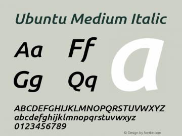 Ubuntu Light Bold Italic Version 0.80 Font Sample