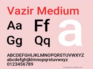 Vazir Medium Version 27.1.0图片样张
