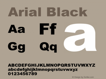 Arial Black Version 5.06图片样张